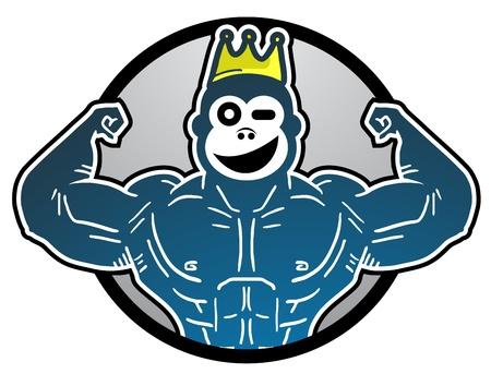 Smile king animal Illustration