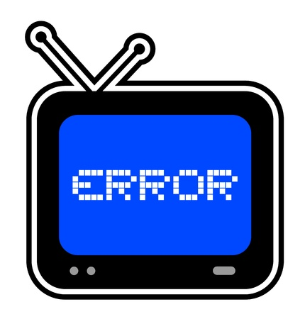 Error screen Stock Vector - 18252427
