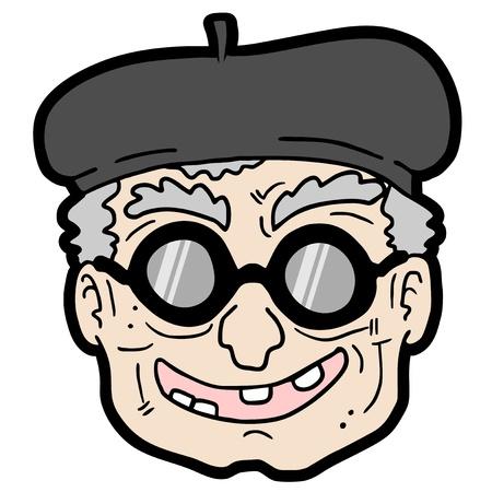 nicked: Anciano Vectores
