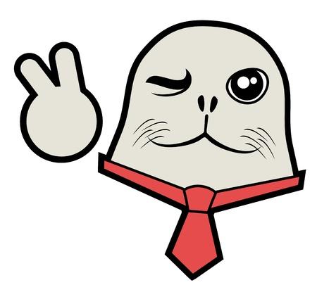 Happy seal Stock Vector - 18252411