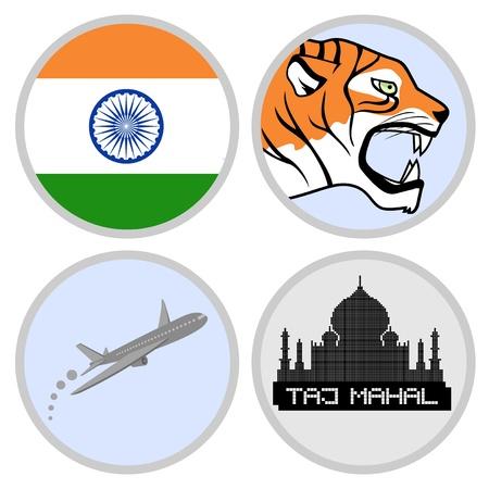 Tiger India travel Stock Vector - 18501677