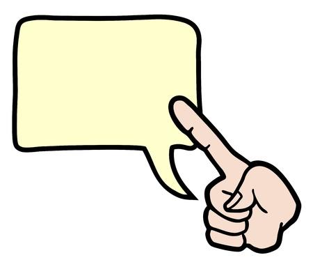 montrer du doigt: Point de doigt Illustration