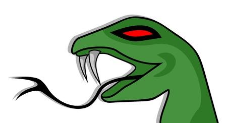 Green snake Illustration
