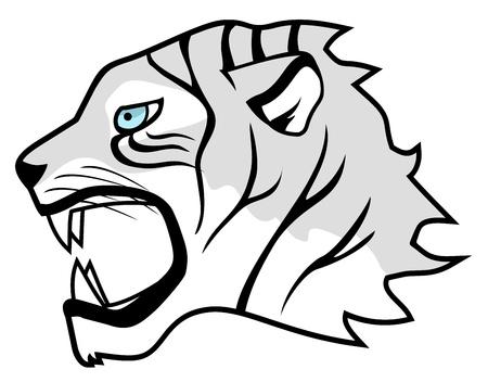 tiger lily: White tiger