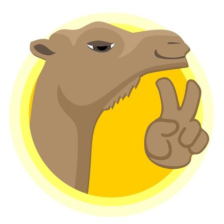 행복 낙타 아이콘 일러스트
