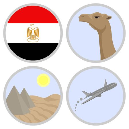 Egypt travel speed Vector