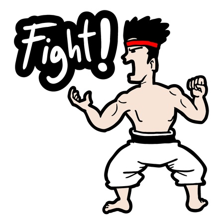Fight man Vector