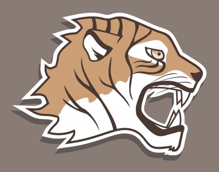 Tiger sticker Stock Vector - 18498785