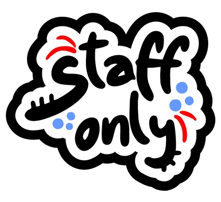 Staff only Stock Vector - 18501671