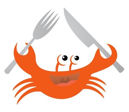 Food crab Stock Vector - 18498401