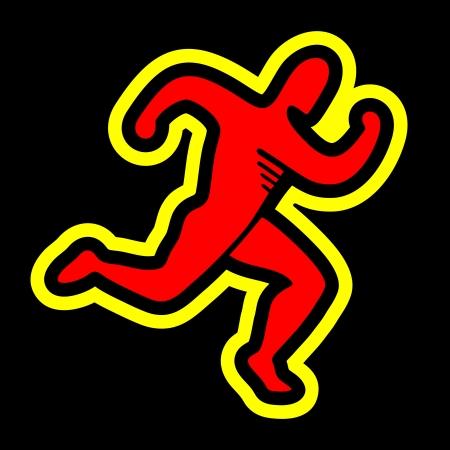 uomo rosso: Energia icona Vettoriali