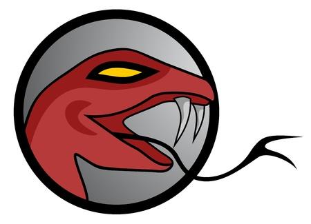 expesive: Serpiente roja Vectores