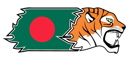 Bangladesh tiger Vector