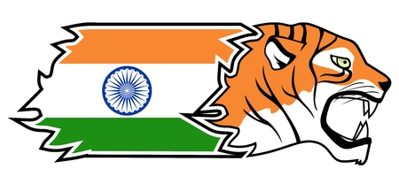 Indian tiger Stock Vector - 18498323