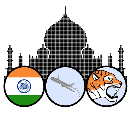 Indian travel Vector