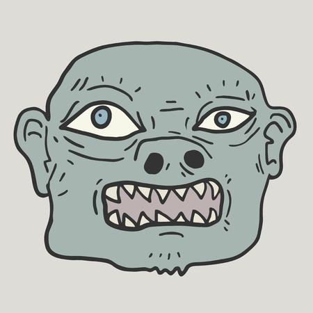 Monster face Vector