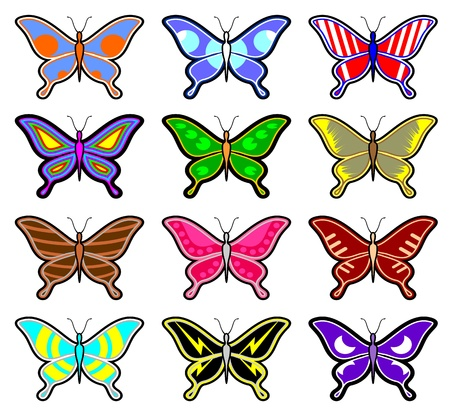 sociable: Butterfly collection Illustration