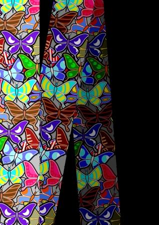 sociable: Creative vertical art butterflies background