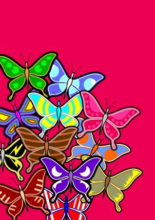sociable: Butterfly art background Illustration