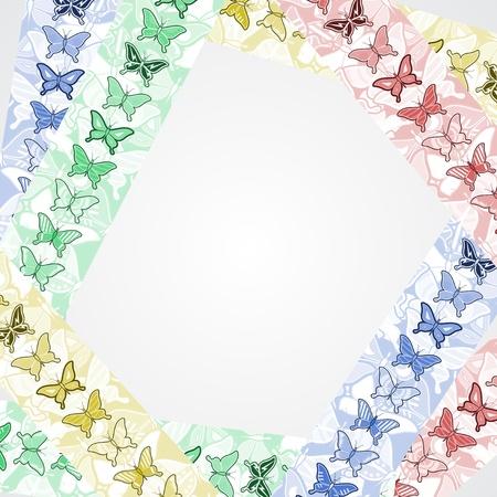 sociable: Color art butterflies frame