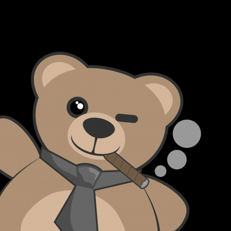 Smoking bear Vector