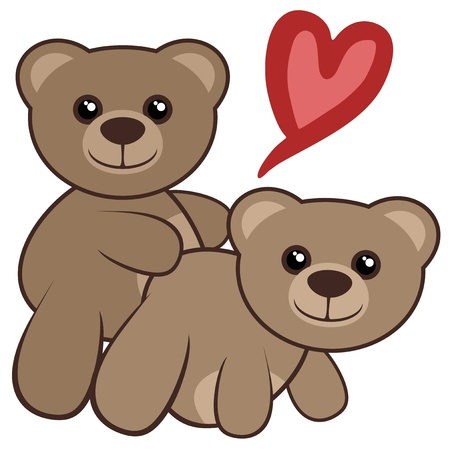 sexuales: Amor osos Vectores