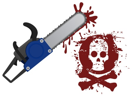 Terror blood chainsaw Stock Vector - 18633391