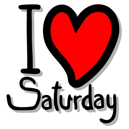 I love saturday 일러스트