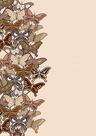 sociable: Creative butterfly background