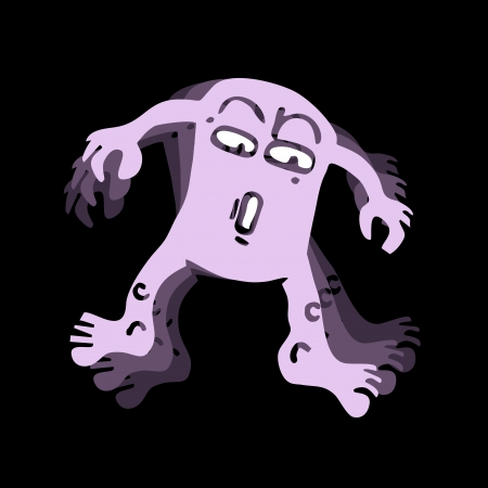 Funny ghost Stock Vector - 18617428