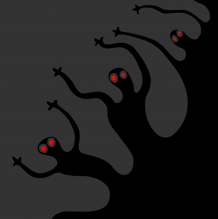 Terror monsters Vector