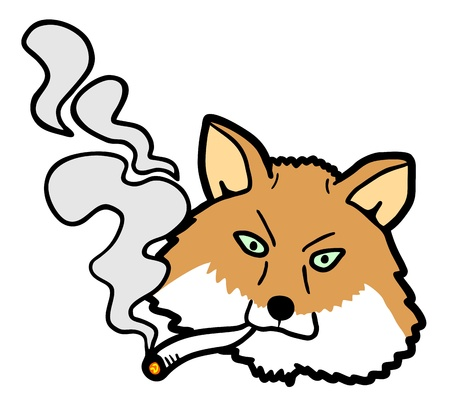 Fox smoking Stock Vector - 18583082