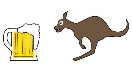 Beer jump Vector
