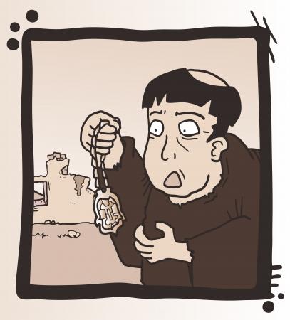 빈티지 만화 디자인 일러스트
