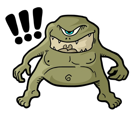 expressive style: Terror monster design Illustration