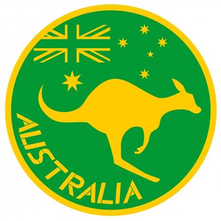 Australia kangaroo sticker Vector