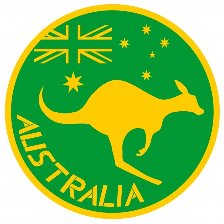 expressive style: Australia kangaroo sticker
