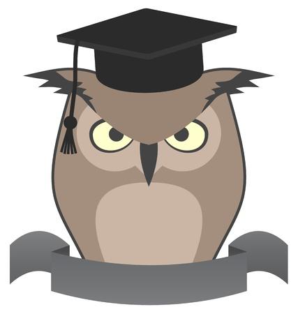 Owl elegant Stock Vector - 18764511