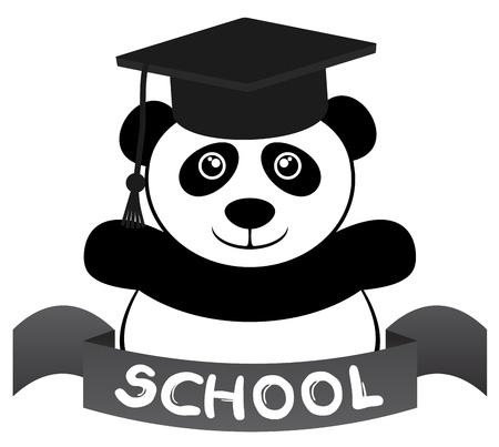 Bear school Vector