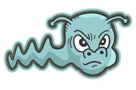 expressive style: Rebel worm Illustration