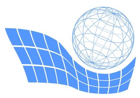 booming: Elegant science symbol Illustration