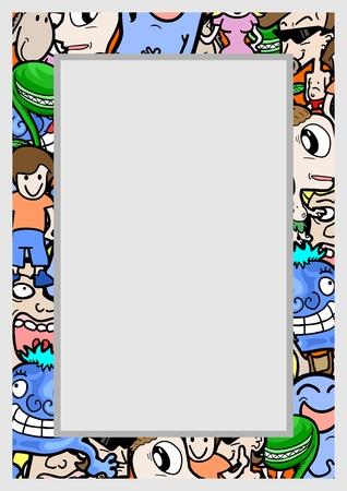 cartoon frame: Cornice del fumetto