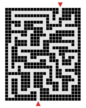 Pixel labyrinth Vector