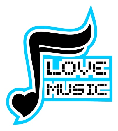 music theory: Love music Illustration