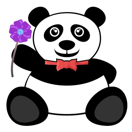 Fashion flower bear Vector