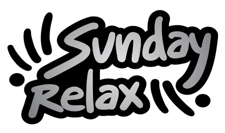 Sunday relax symbol Stock Vector - 18703170