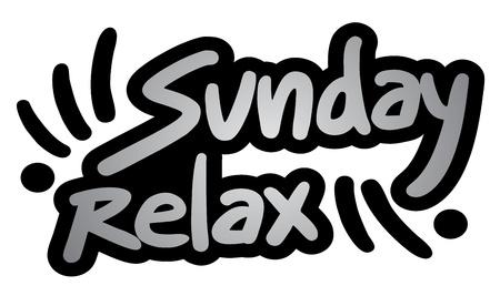 Sunday relax symbol Stock Vector - 18703170