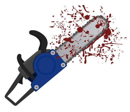 Chainsaw blood Stock Vector - 18703183
