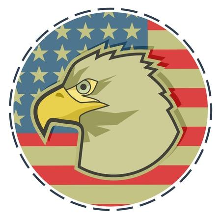 Eagle American emblem Vector