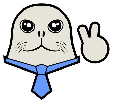 Happy seal Stock Vector - 18703091